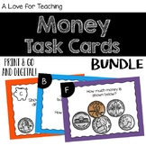 Coins Money Task Cards BUNDLE {Print & Go + Digital}