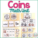 Coins Math Unit for Special Education (Hands On Money Unit