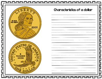 Money/Coins Writing Activity