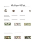 Coins and Bills Test