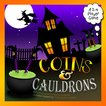 Coins and Cauldrons Halloween {Cool Math Center Game}