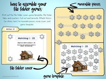 Coins and Numbers File Folder Games WINTER THEME