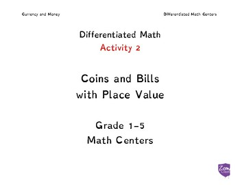 Coins and Place Value Differentated Lessons