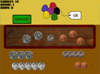 Coins for Candy - Counting Money (Playable at RoomRecess.com)