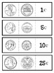 Coins Foldable. Tri-fold. Interactive Notebook Pieces