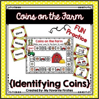 Coins on the Farm - Recognizing & Identifying Coins Game