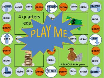 Coins that Make a Dollar Money Math Game