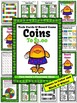 Money Task Cards and Board Game for Coins to $1.00 Recording Sheets Included