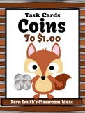 Money Task Cards for Coins to One Dollar with Recording Sheets