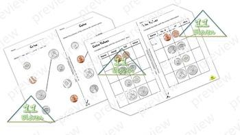 Coins worksheets (English)