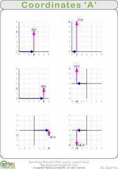 Coordinates (13 Numeracy sheets)