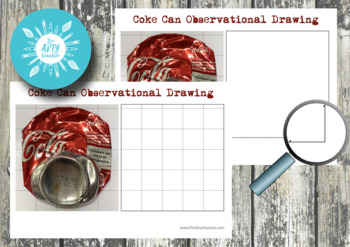 Coke Can Grid Drawing