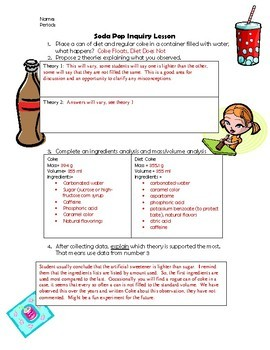 Density Inquiry Lab for Middle School:  Coke