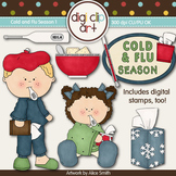 Cold And Flu Season 1-  Digi Clip Art/Digital Stamps - CU Clip Art