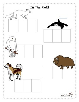 Cold Animal Word Building Mat