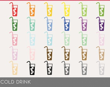 Cold Drink Digital Clipart, Cold Drink Graphics, Cold Drink PNG