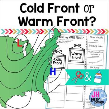 Cold Front or Warm Front? Cut and Paste Sorting Activity