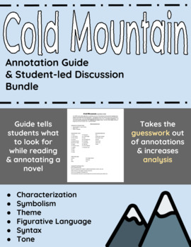 Cold Mountain Annotation Guide and Student-led Discussion Bundle