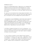 Cold Mountain (Charles Frazier) Essay Test