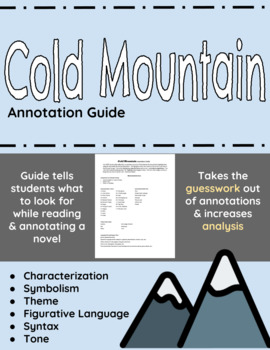 Cold Mountain Annotation Guide