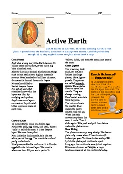 Cold Read- Active Earth- Common Core-NGSS