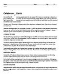 Cold Read - Celebrate Earth- FCAT-SOL-Standardized Test