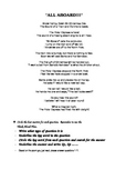Cold Read - POLAR EXPRESS POEM - Standardized Assessment