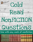 Cold Read Questions NONFICTION