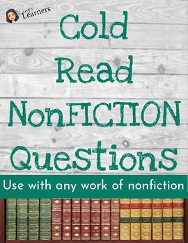 Cold Read Questions NONFICTION