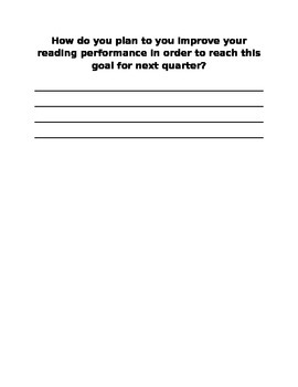 Cold Read Tracker and Reflection (Self Monitoring Tool for Reading Progress)