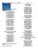 Cold Read- Twas the Night before Christmas Poem - Standard