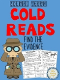 Cold Reads Find the Evidence Animal Theme