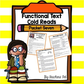 Cold Reads: Functional Text Packet 7