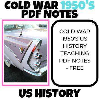 Cold War 1950's Generation US History teaching PDF