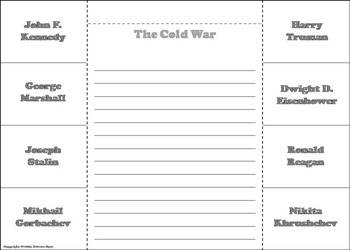 Cold War Unit Activity/ Interactive Notebook Foldable