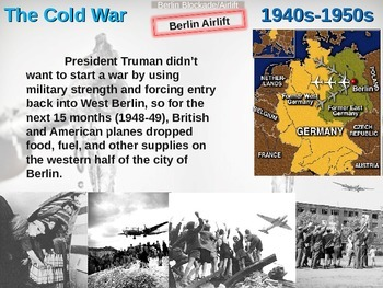 Cold War (40s-50s) Berlin Blockade/Airlift - engaging, highly visual PPT