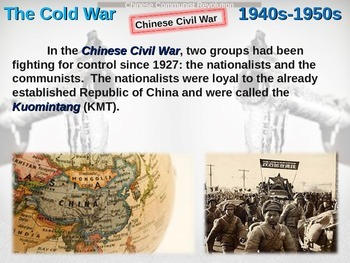 Cold War (40s-50s) Chinese Communist Revolution - engaging, highly visual PPT