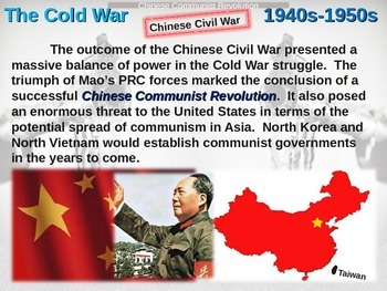 Cold War (40s-50s) Chinese Communist Revolution - engaging