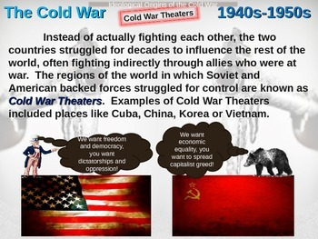 Cold War (40s-50s) Ideological Origins of the Cold War - engaging, visual PPT