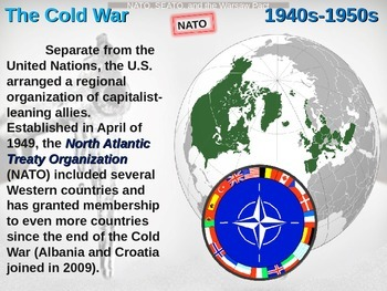 Cold War (40s-50s) NATO, SEATO and the Warsaw Pact - engaging, highly visual PPT