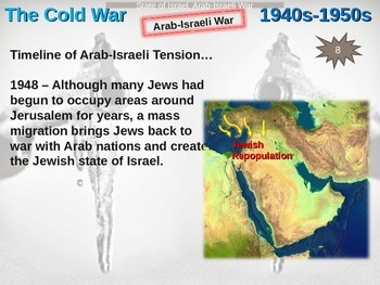 Cold War (40s-50s) State of Israel and Arab-Israeli War - engaging, visual PPT