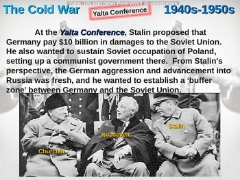 Cold War (40s-50s) Yalta, UN, Postwar Developments - engag