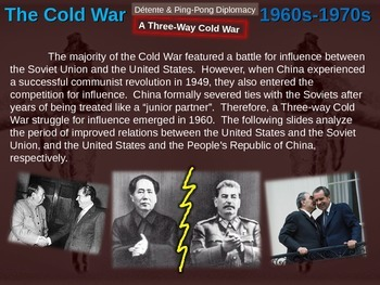 Cold War (60s-70s) DETENTE & PING PONG DIPLOMACY (20 slide PPT)