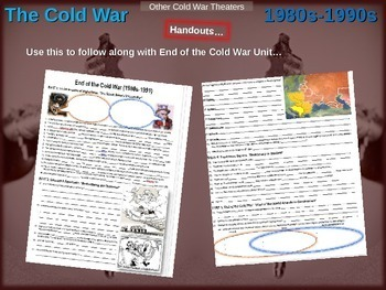 Cold War (80s-90s) FREE GUIDED NOTES for ALL 5 engaging PPTs (85 slides total)