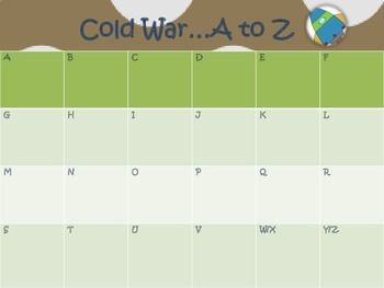 Cold War {A to Z chart}