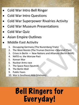 Cold War Activities - 7 lessons in one
