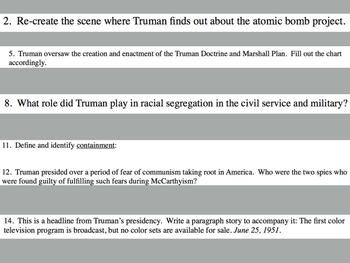 Cold War Activities Mini Bundle