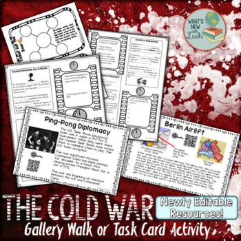 Cold War Gallery Walk Activity with Cloze Notes