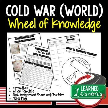 Cold War Activity, Wheel of Knowledge (Interactive Notebook)