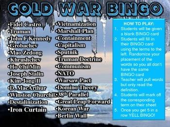 Cold War BINGO Review